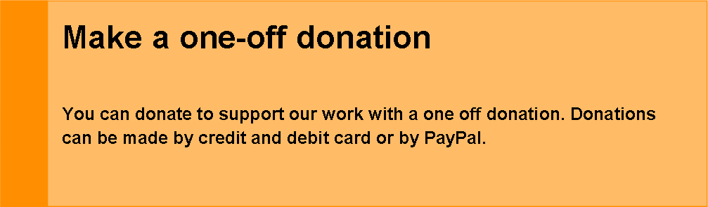 Make a one off donation