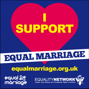 I support equal marriage