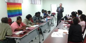 LGBT 101 session in Barbados, presented by the Rev. Tom Decker of Rochester, N.Y.
