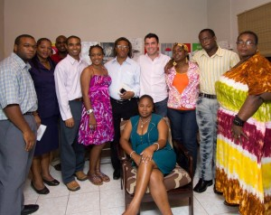 GrenCHAP staff and supporters at the opening of their new centre in St George, Grenada