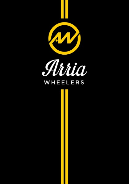 Arria Wheelers logo-type-stripe