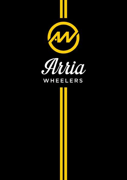 Arria Wheelers logo-type-stripe